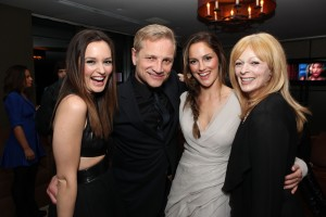 L to R: Leighton Meester, President of Screen Gems Clint Culpepper, Minka Kelly and Frances Fisher - photo: SPE, Inc. / Eric Charbonneau