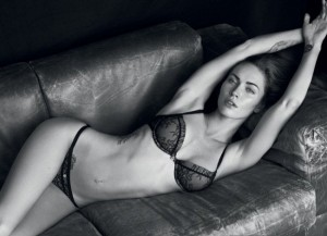 Megan Fox seen here in Emporio Armani campaign