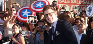Chris Evans at Captain America: The First Avenger Premiere (photo: Splash)