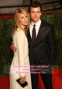 Hugh Dancy and Claire Danes attend the 2011 Vanity Fair Oscar Viewing Night - photo: Splash