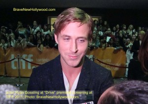 "Ryan Gosling at the Toronto Int'l. Film Festival premiere for ""Drive"" - photo:BNH"