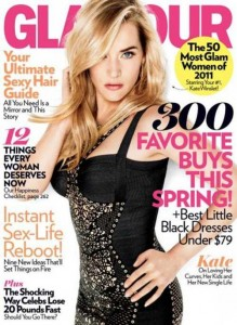 Kate Winslet on the cover of Glamour magazine (April 2011)