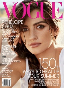 Penelope Cruz, on the cover of Vogue Magazine (June 2011)