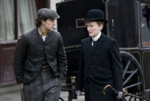 "Aaron Johnson and Glenn Close in ""Albert Nobbs"" - Roadside Attractions"