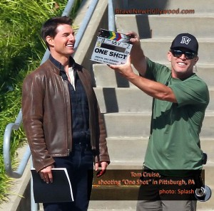 Tom Cruise films 'One Shot' in Pittsburgh, PA - photo: Splash