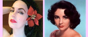 L-R: Broadway actress Alexis Kiley, and the real deal, Elizabeth Taylor