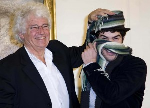 Rahim, with director Jean Jacques Annaud in Rome promoting &quot;Black Gold&quot; - photo: Splash