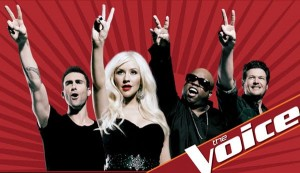 "NBC's Victorious Team: Adam, Christina, Cee Lo, and Blake of  ""The Voice"" (NBC)"