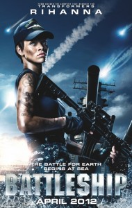 """Battleship"" movie poster feat. Rihanna (Universal Pictures)"