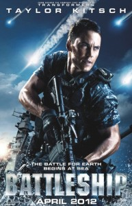 """Battleship"" movie poster feat. Taylor Kitsch (Universal Pictures)"