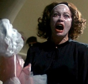 "Faye Dunaway channeling Joan Crawford in ""Mommie Dearest"" (1981)"