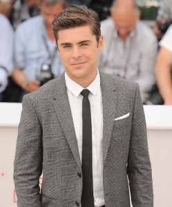 Zac Efron at the photo call for &quot;The Paperboy&quot; at Cannes (photo: Splash)