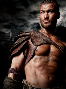 The original hero, the late Andy Whitfield as Spartacus (Starz)