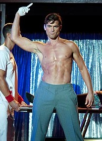 Matt Bomer shows his stuff in &quot;Magic Mike&quot; (photo: Glen Wilson / Warner Bros.)