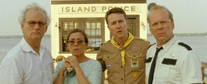 (L-R): Bill Murray, Frances McDormand, Edward Norton, Bruce Willis in MOONRISE KINGDOM - (Focus Features)