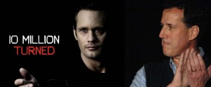 True Blood's baddest vampire Eric Northam played by Alexander Skarsgard (HBO), Rep. candidate Rick Santorum (photo: Splash)