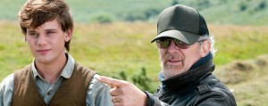 "Steven Spielberg directing Jeremy Irvine on ""War Horse"" - (Dreamworks)"