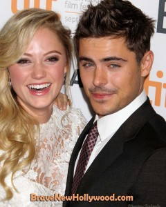 "Mailka Monroe and Zac Efron at the premiere of ""At Any Price"" at TIFF 2012"