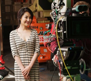 "Beautiful actress Summer Qing stars in her first Hollywood movie ""Looper."""