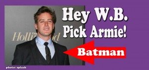 Warner Bros should pick Armie Hammer as Batman in the Justice League franchise