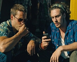 Aaron Taylor Johnson and Taylor Kitsch in the movie savages