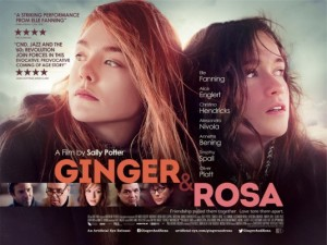 "Elle Fanning and Alice Englert, ""Ginger & Rosa"" poster"