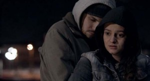 Vedran Kos (is Milo) and Tina Keserovic (is Biljana) in the award-winning short film HATCH.