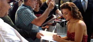JERSEY BOYS Actress Renée Marino signs autographs for fans in Los Angeles, CA