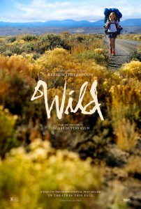 Actress Reese Witherspoon walking the Pacific Crest Trail on the poster for WILD the movie.