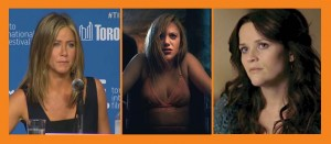American actresses bringing their groundbreaking films to TIFF 2014 (L-R): Jennifer Aniston (CAKE), Maika Monroe (THE GUEST, IT FOLLOWS), Reese Witherspoon (WILD, and A GOOD LIE)