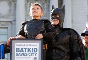 Miles Scott, cancer survivor, aka San Francisco Batkid was featured in his own documentary in 2014