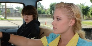Maika Monroe (pictured with Brendan Meyer) thrilled, in THE GUEST