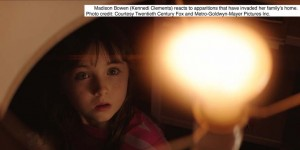 Madison Bowen (played by Kennedi Clements) reacts to apparitions that have invaded her family's home.