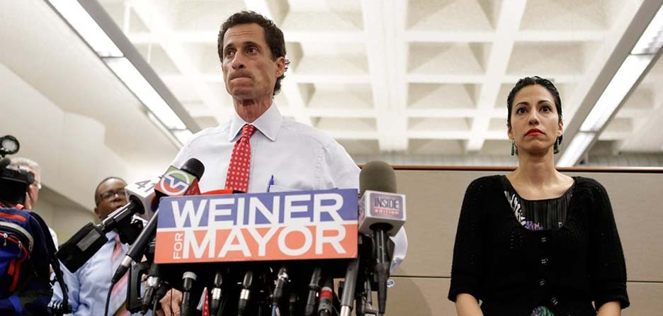 Hilary Clinton aide Huma Abedin braves the scandal in new documentary 'Weiner.'
