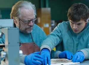 Actors, Brian Cox (L) and Emile Hirsch (R) cut deep in 'The Autopsy of Jane Doe,' our alternative holiday indie film pick with horror.