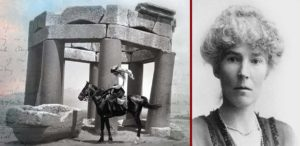 "British explorer Gertrude Bell rides deep into Arabian Desert during WWI in ""Letters from Baghdad"" documentary film."