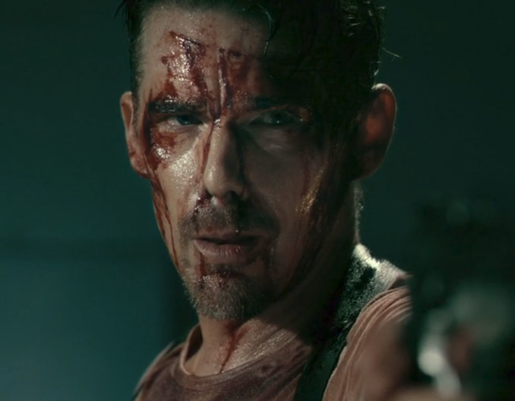 Ethan Hawke is out for blood, in 24 HOURS TO LIVE action film, released by Saban Films.