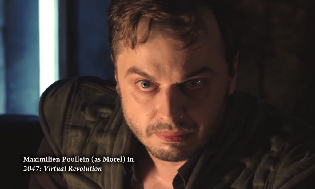 "French-born actor Maximilien Poullein shines in Guy-Roger Duvert's Sci-Fi thriller ""2047: Virtual Revolution."""