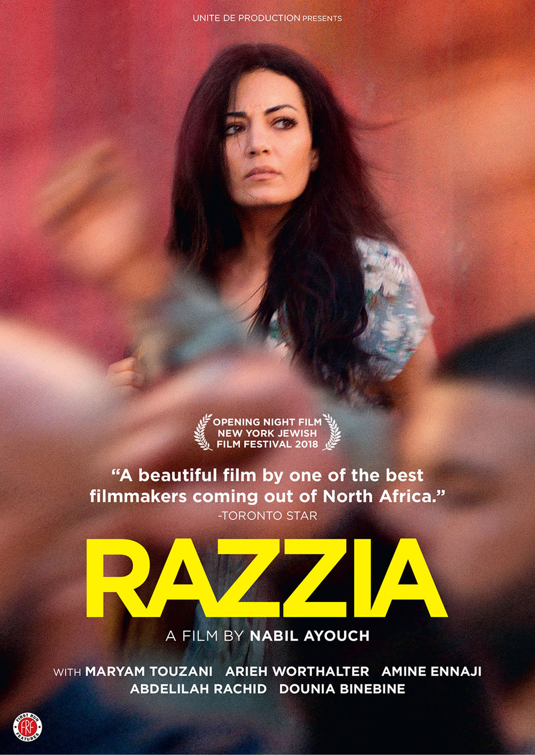 Razzia film poster, DVD cover art - distributed by First Run Features.