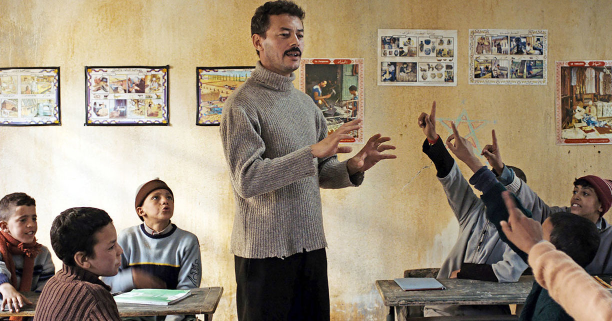 Razzia (2017) film stars Amine Ennaji as a Berber teacher - Distributed by First Run features