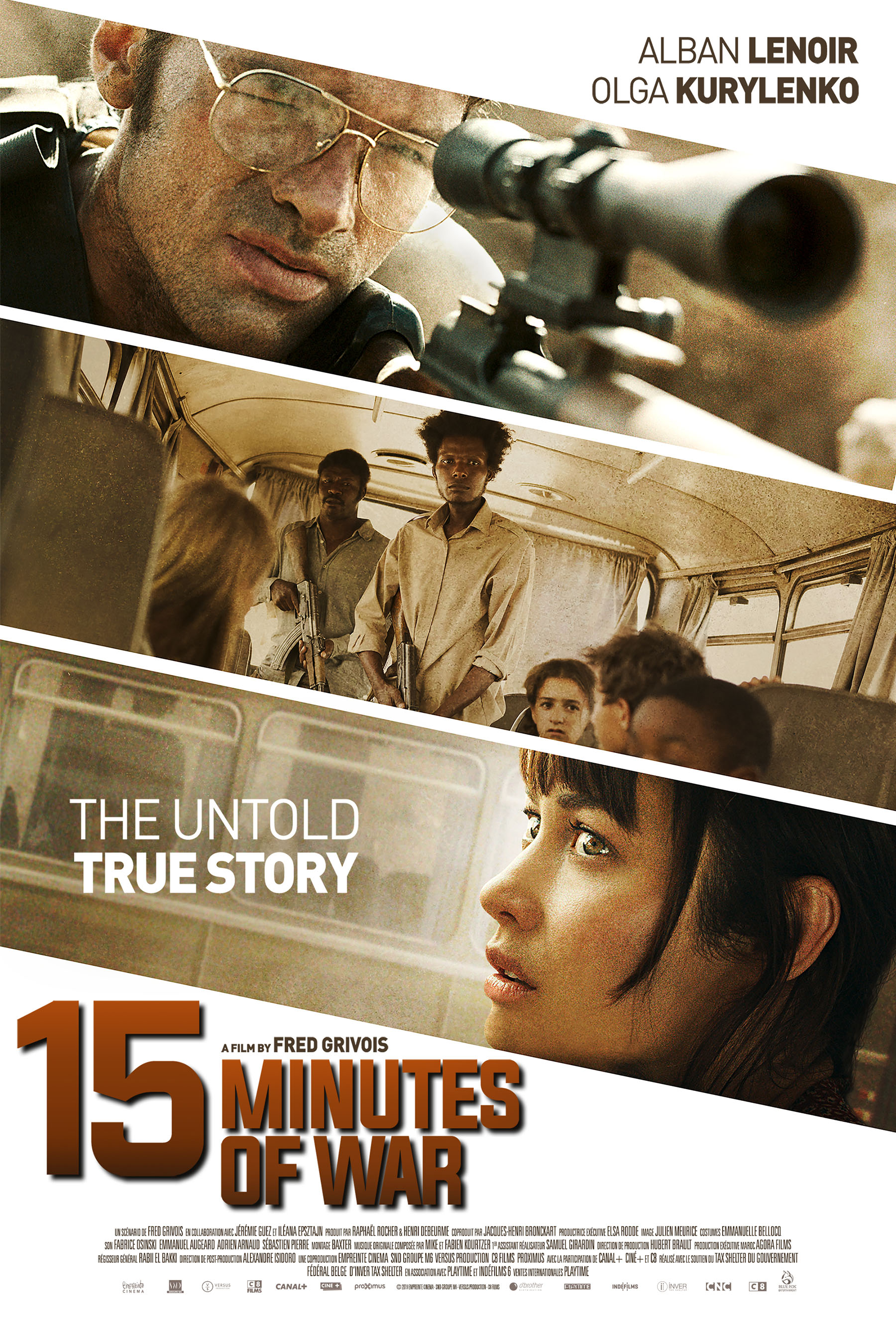 Actress, Olga Kurylenko is a teacher, stuck in a hostage situation in the true-life drama, in 15 MINUTES OF WAR (film).