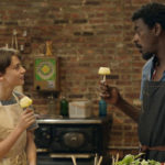 Noah Schnapp as Abe, and Seu Jorge as Chef Chico in ABE, 2019 film