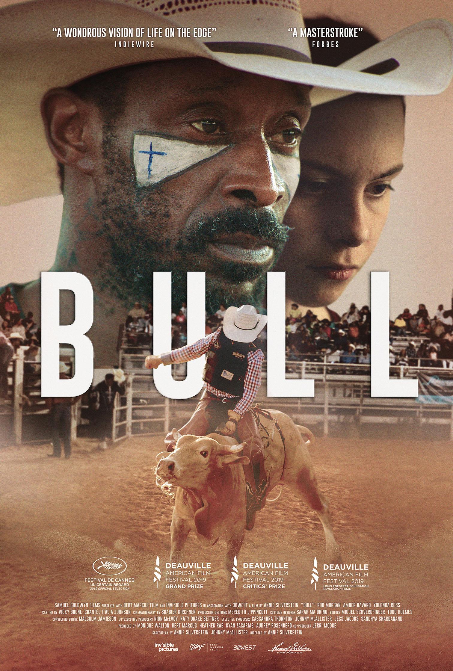 The official film poster for BULL 2019 film