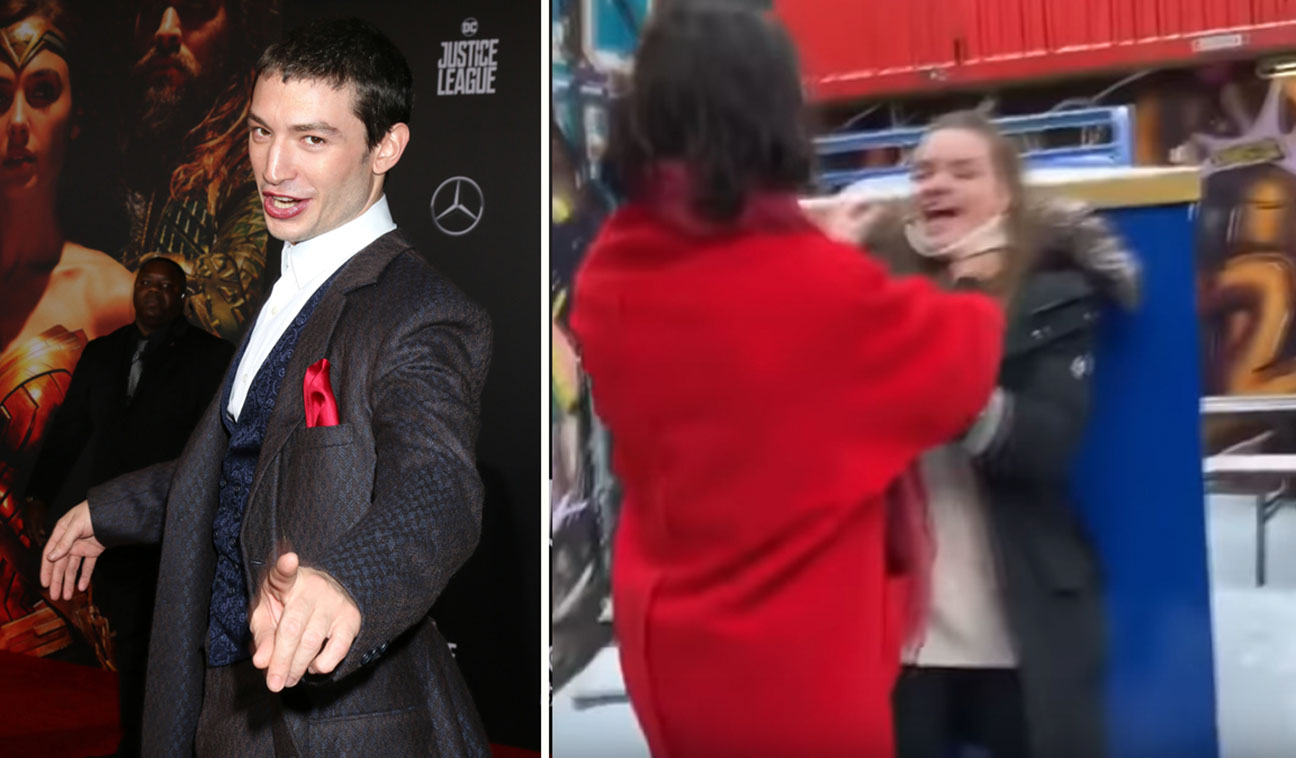 Did Ezra Miller try to choke fan during a bar incident?