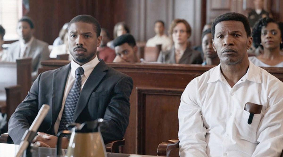 L-R: Actors, Michael B. Jordan and Jamie Foxx in JUST MERCY - Warner Bros Pictures