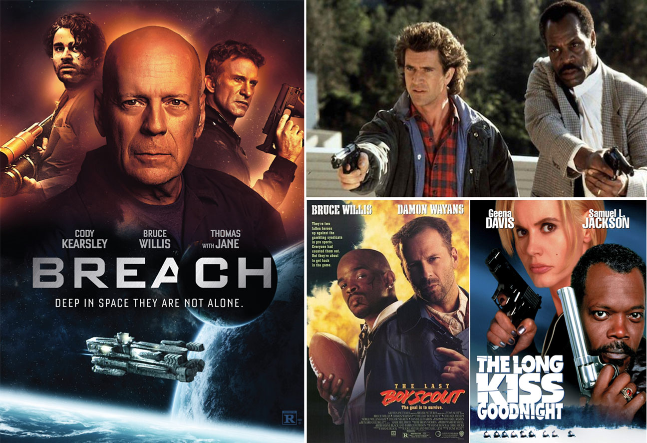 Arena Cinelounge Drive in line up: BREACH movie poster featuring Bruce Willis, Cody Kearsley and Thomas Jane